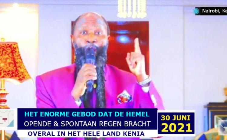 OP ÉÉN GEBOD OPENT ELIA DE PROFEET VAN GOD DE HEMEL BOVEN HEEL KENIA
